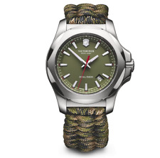 Victorinox Mens Watch I.N.O.X 241727.1, Paracord Band, Swiss Made, 43mm, RRP$900