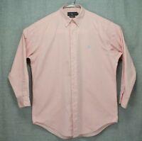 Pink Polo Ralph Lauren Classic Fit Long Sleeve Dress Shirt Men's Sz Large 32/33