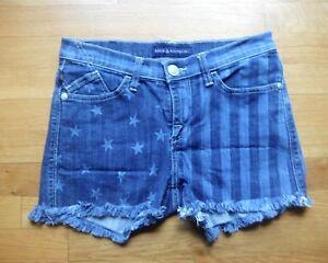 Rock & Republic Lolita Stars & Stripes Patriotic Raw Hem Denim Shorts Women sz 6
