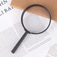 90mm Handheld Magnifier 5X Reading Map Newspaper Magnifying Glass Jewelry MR