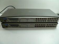 LOT OF 2 HP PROCURVE 2324 J4818A Network 24-Port FAST ETHERNET SWITCH