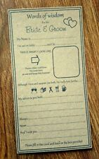 *Vintage Brown Wedding table game advice card, words of wisdom, ice breaker*