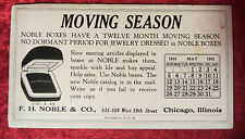 Vintage 1935 F. H. Noble & Co. Jewelry Boxes Calendar Advertising Card
