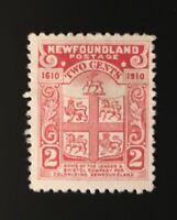 Stamps Canada Newfoundland Sc88 2c carmine Coat of Arms -See description
