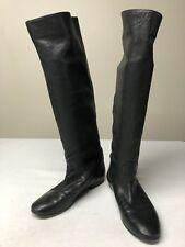 Hugo Boss Womens Made In Italy Black Leather Boots EU 39 US 8.5