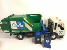 Tonka Go Green Recycle Trash Truck Garbage Cans  Voice Sound Lights