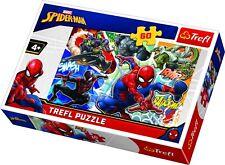 Trefl 60 Piece Kids Boys Disney Marvel Superhero Brave Spiderman Jigsaw Puzzle
