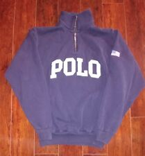 Vintage Polo Sport Ralph Lauren USA Flag Spellout Pullover Small Medium