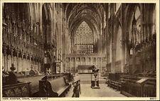 York Minster Great Britain vintage postcard ~1920/30 Choir looking east Chor