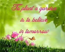 METAL MAGNET To Plant A Garden Is To Believe In Tomorrow Family Friend MAGNET