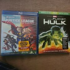 Justice League Crisis On Two Earths And Planet Hulk blu-ray bundle (brand new)