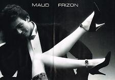 PUBLICITE ADVERTISING 025  1986  MAUD FRIZON  chaussures escarpins ( 2p)
