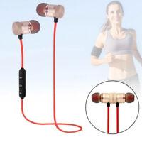 Wireless Magnet Bluetooth 4.1 Stereo Earphone Earbuds Sport Headphone Headset CY