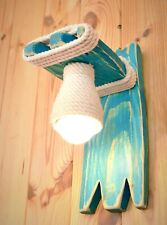 Wooden sconce, wall light, lamp wall wooden, bedroom lamp, wooden fixture, blue
