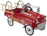 InStep Stylish Fire Truck Pedal CAR, Adjustable Pedal Drive Steel FIRETRUCK