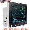 "Portable 12"" ICU Vital Signs Patient Monitor SpO2,PR, NIBP,ECG,RESP,TEMP Medical"