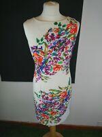 Fenn Wright Mason UK Size 8 Ivory Floral Sleeveless Shift Dress
