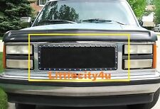 FOR 88 89 90 91 92 93 GMC Sierra Suburban Black Wire Mesh Rivet Grille Insert