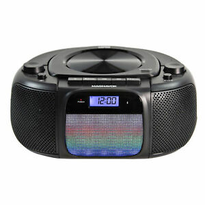 Magnavox MD6972 CD Boombox with AM/FM Radio, Color Changing Lights and Bluetooth