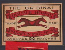 Ancienne étiquette de paquet  allumettes Belgique    AZ5700  Cheval