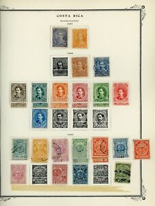 COSTA RICA Scott Specialty Album Page Lot #2 - SEE SCAN - $$$