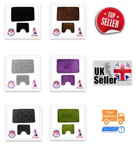 Bath Mat Set pack of 2  / Non & Anti Slip, Soft /100% Made in Turkey