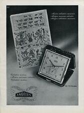 1946 Angelus Clock Co Switzerland Swiss Print Ad Publicite Suisse Schweiz CH
