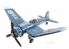 "XL Vought F4U Corsair Metal Model 41"" WWII Aircraft Airplane Decor 1:12 Scale"