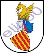 1x STICKER Escudo de la Comunidad Valenciana SPAIN