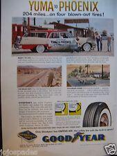 1957 Good Year Tire Ad-Yuma To Phoenix-8 1/2 x 10 1/2 Inch-Original-VG