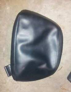 1995-1999 Mitsubishi Eclipse OEM FRONT SEAT HEADREST BLACK LEATHER COVER