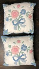 2 Shabby Chic Country Cottage Floral Patchwork Quilt Decorative Pillow 15x14""