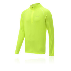 Higher State Mens Half Zip Long Sleeve Running Top 2.0 - Green Sports Breathable