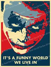 Batman Joker Quotes Heath Ledger 'It's A Funny World' Glossy Poster Art Print!