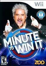 Minute to Win It WII NEW! GUY FIERI, FUN FAMILY GAME! NBC GAME SHOW!