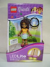 NEW LEGO FRIENDS ANDREA BLACK MINIFIG FIGURE LED LITE KEY CHAIN AFRICAN AMERICAN