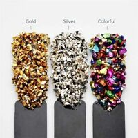 Broken Glass Stones Gems Nail Crystals Rhinestones Nail Art Tips DIY Decoration
