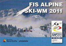 D. Portocard Individuell   FIS Alpine Ski WM 2011  2 Werte  **