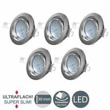LED Einbau-Strahler Decken-Spots 5er Set Einbauleuchte ultra-flach 5W Schwenkbar