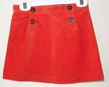 Brand New Janie and Jack Halloween Line Orange Corduroy Skirt Girl's Sz 5T