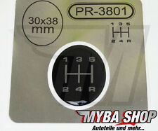 1x GEAR LEVER STICKER ∅= 1 3/16in x 1 1/2in EMBLEM FOR GEAR KNOB 3D STICKER NEW