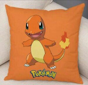 POKEMON CHARMANDER Cushion Cover 45 X 45 cm in ORANGE New gift decor kids pillow