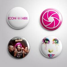 4 ICON FOR HIRE - Pinbacks Badge Button Pin 25mm 1''