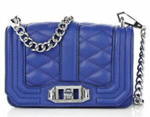 Rebecca Minkoff Quilted Mini Love Crossbody Bag Leather Clutch ~NWT~ Cobalt