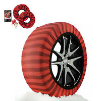 ISSE Classic Snow Textile Tire Chains Socks Traction for Cars SUVs Truck Size 66