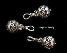 10 Antiqued Tibetan Silver 24mm Cutout Clover Hollow Charms Drop Dangle Beads
