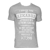 Official Licensed Harry Potter I Served Time In Azkaban T-Shirt Grey