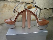 Brian Atwood *Authentic* SkyHigh Platform Sandal Size EU 40.5