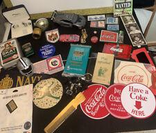 New listing Vintage Junk Drawer Lot, Coca Cola, Cars Stamps & More