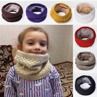 Baby Winter Scarf Children Girls Boys Kids Knitted Wool Neck Warmer O-Scarves